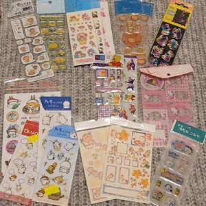 Lot (18) of Assorted Stickers (full packs)